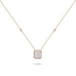 Rose Gold & Mixed Cut Diamonds Necklace