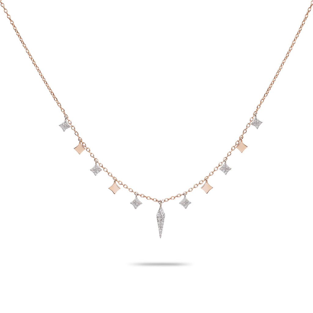 Rose Gold & Diamonds Chain Necklace