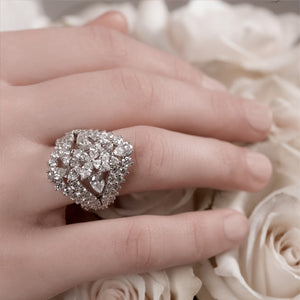 Combined Round & Pear Diamond Ring