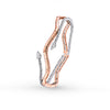 Okre by Yessayan - Rose & White Gold Diamond Cuff Bracelet