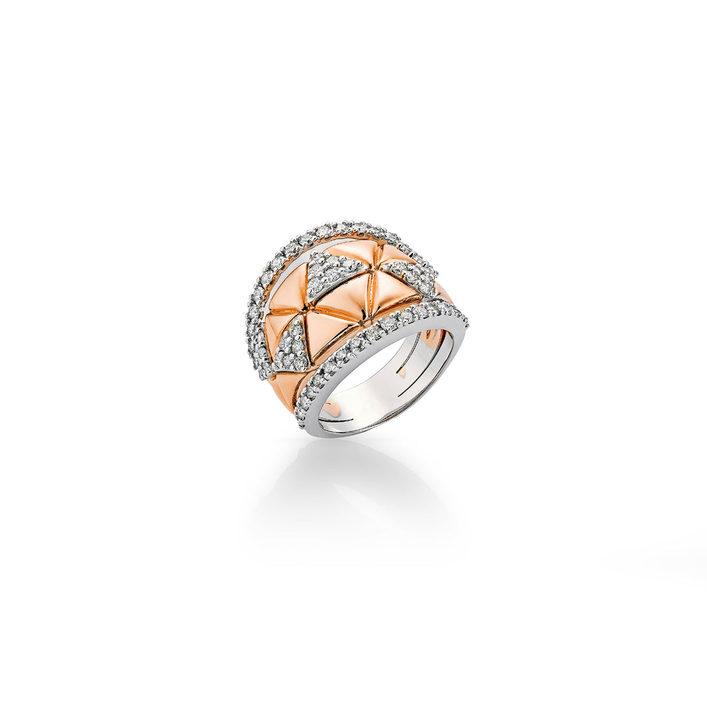 Okre by Yessayan - Rose & White Gold Diamond Ring
