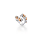 Okre by Yessayan - Pyramid Rose & White Gold Diamond Ring