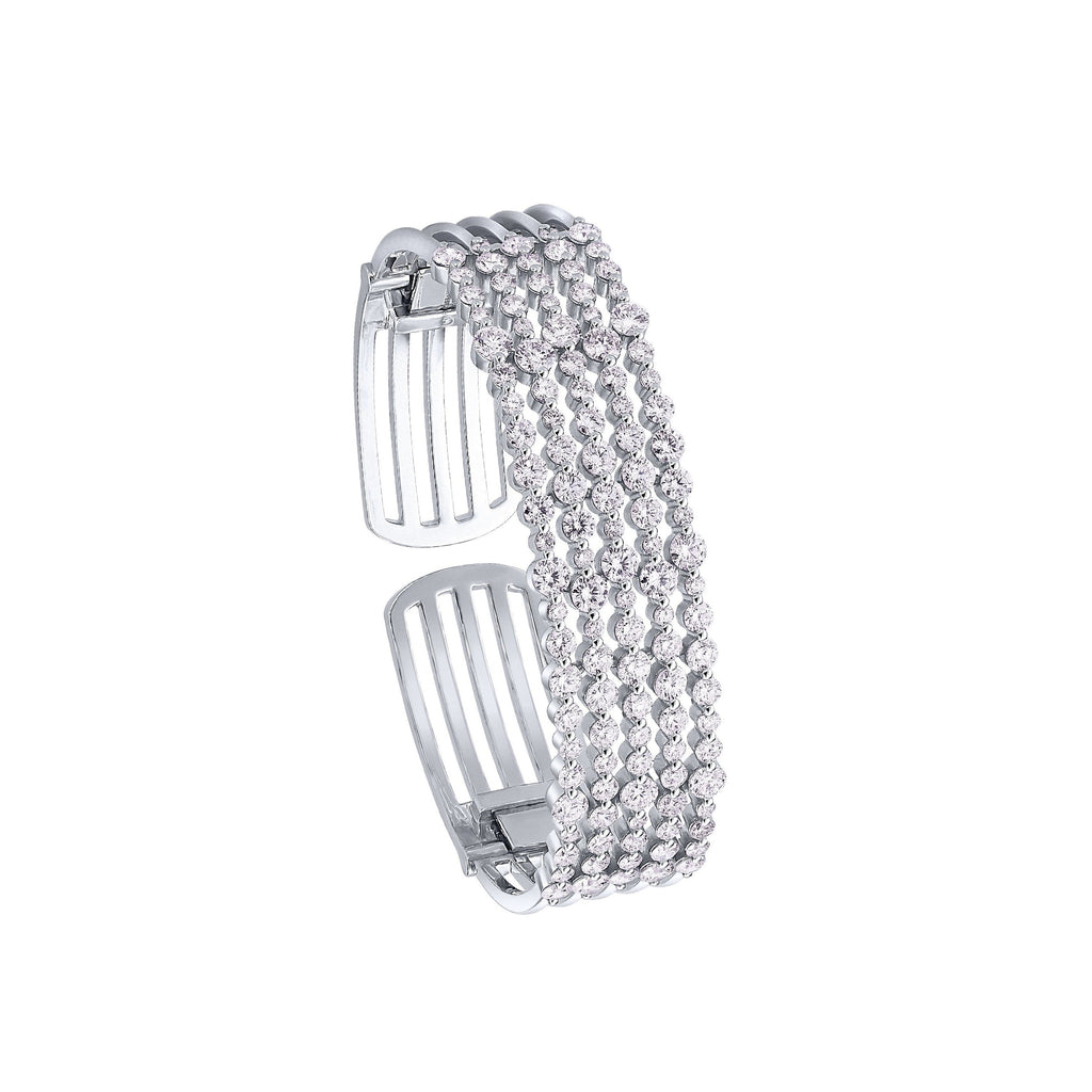 White Gold & Diamond Cuff Bracelet
