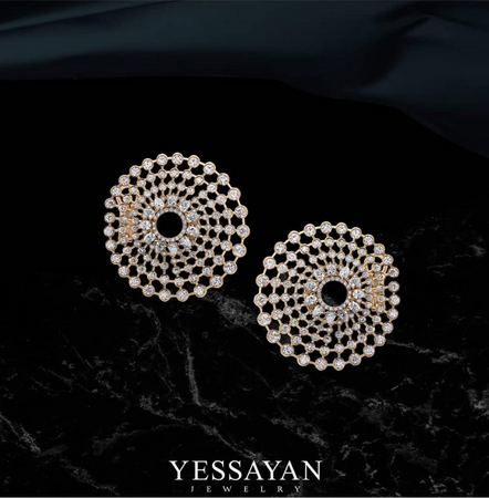 Solaris Rose Gold & Diamond Earring Circles