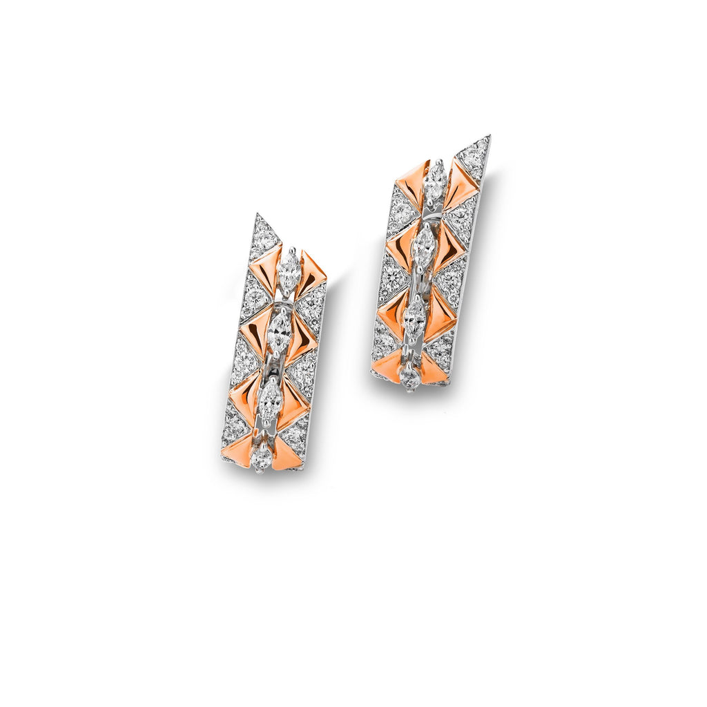 Okre by Yessayan - Rose Gold & Diamond Earrings