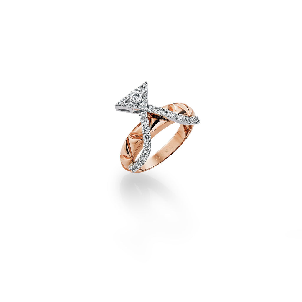 Okre by Yessayan - Rose Gold Diamond Ring