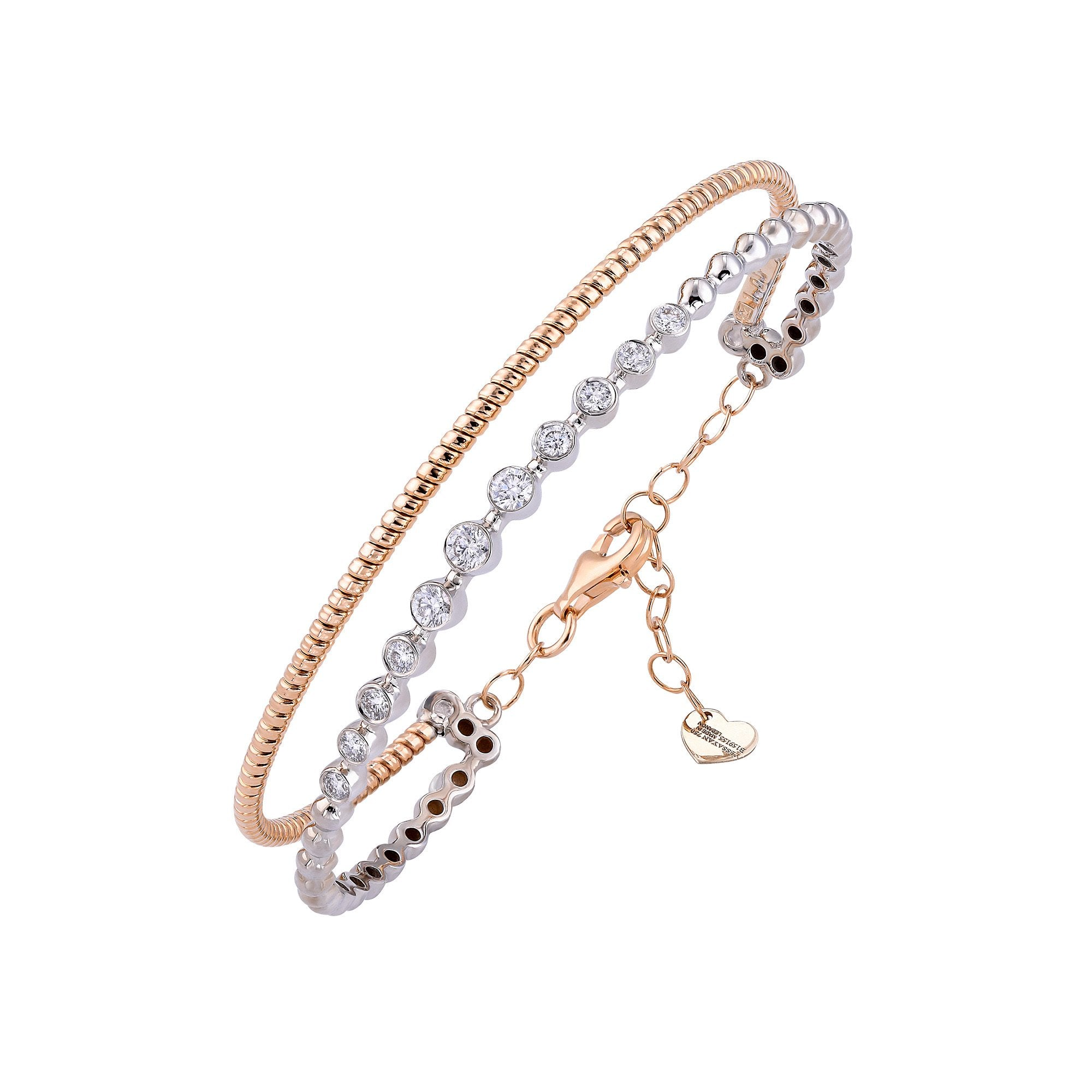Rose Gold & Diamond Cuff Bracelet