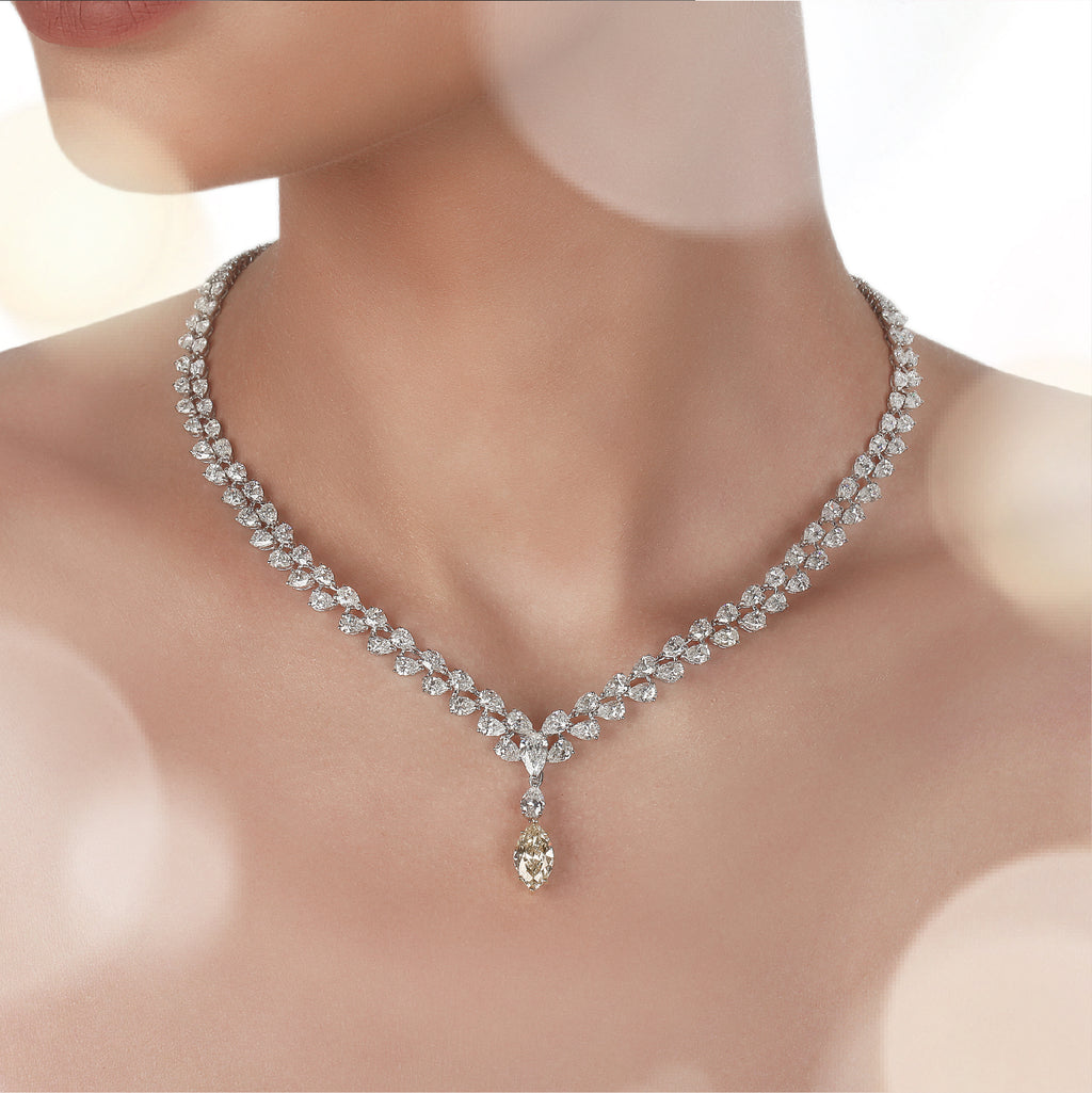 Diamond necklace in Saudi Arabia | Buy necklace online in Saudi Arabia