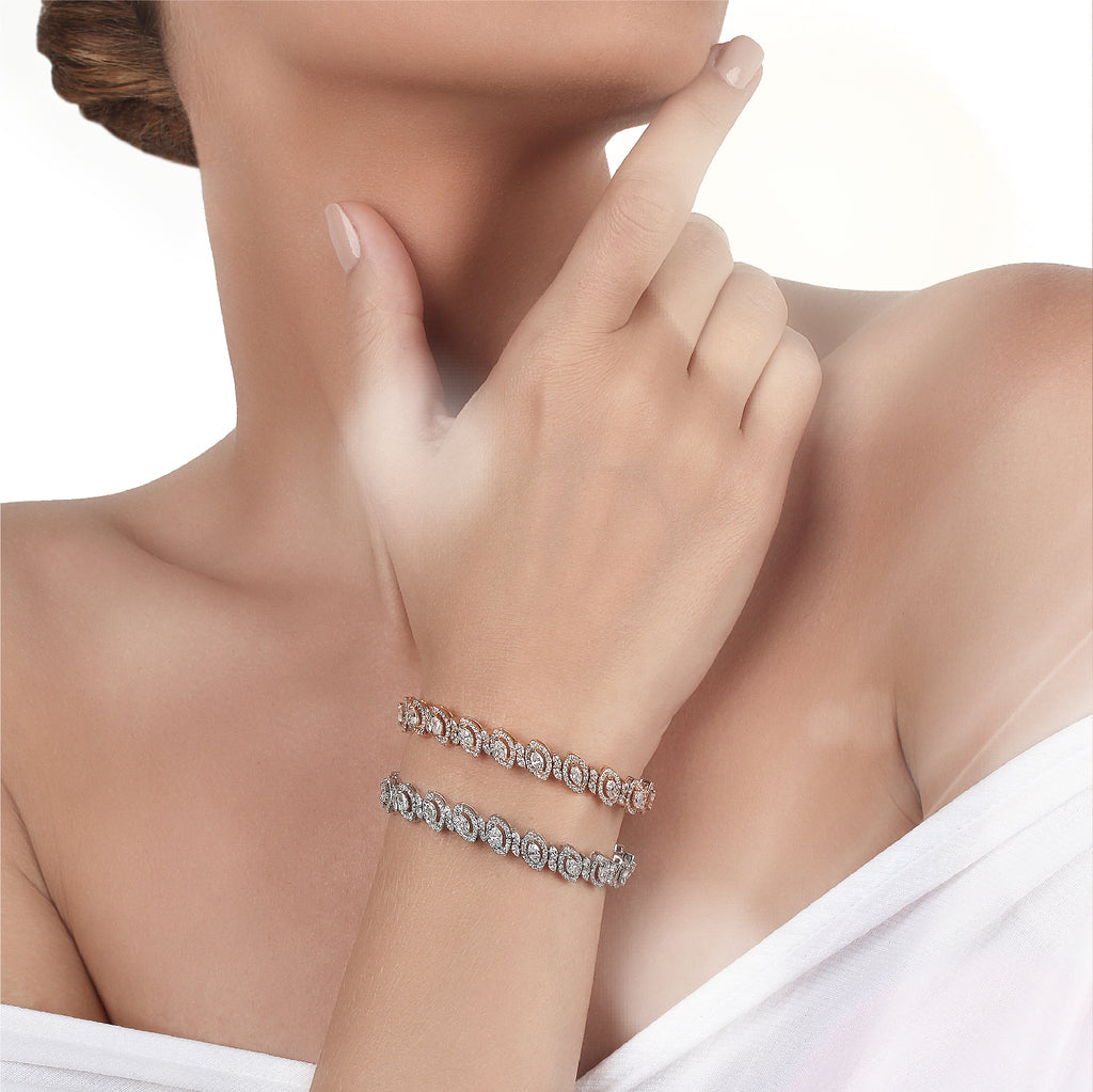Bridal jewelery set in Dubai | Diamond Bracelet in Saudi Arabia
