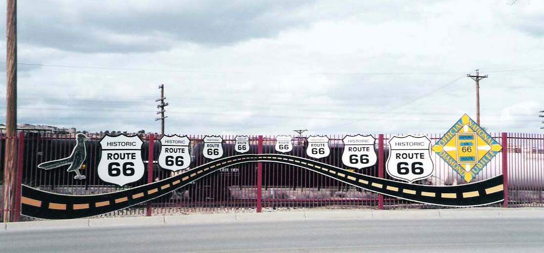 Trip to Zuni - Image of Gallup Route 66 signs