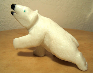 Polar Bear Zuni Fetish