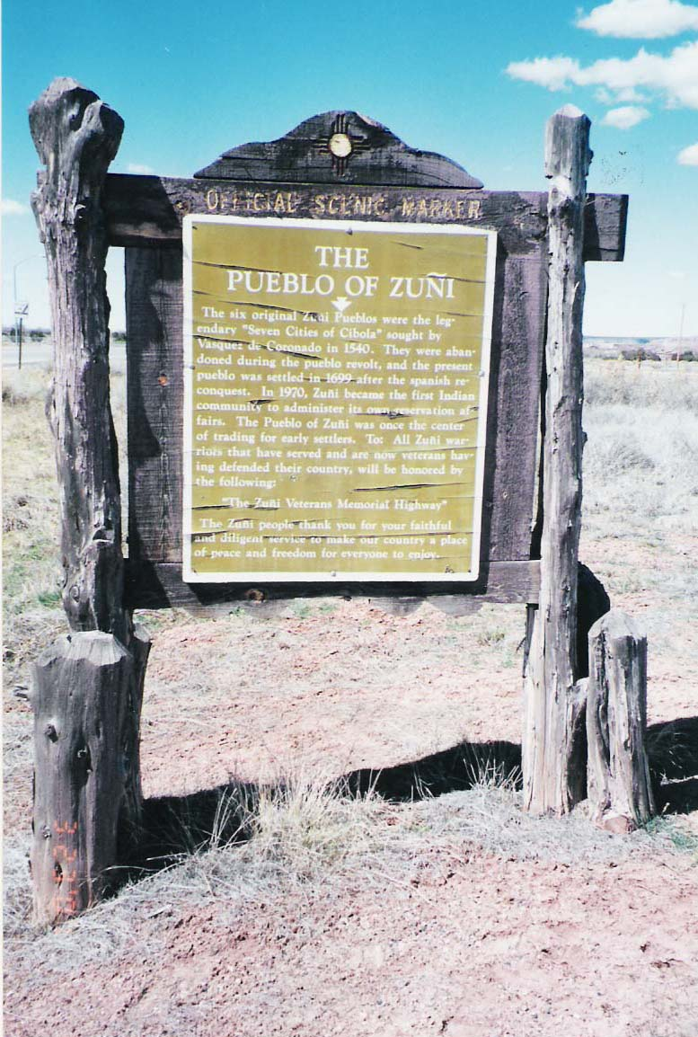 Trip to Zuni - Image of Historical marker just outside of Zuni