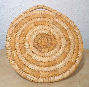 Papago Tohono O'Odham Older Coiled Indian Basket