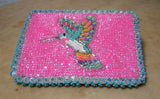 Twila White Navajo Beaded Hummingbird Credit Card Holder