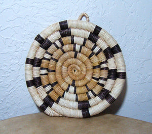 Pat Howesa Hopi Coiled Starburst Indian Basket