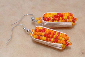Valerie Willie Beaded Indian Corn Earrings
