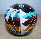 Shirley Smith Navajo Pottery Horsehair Bowl