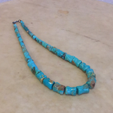 Betty Platero Santo Domingo Pueblo Knucklebone Turquoise Necklace