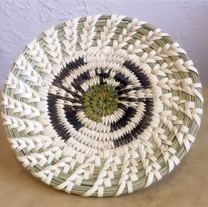 Tohono O'Odham Split Stitch and Coiled Tarantula Indian Basket