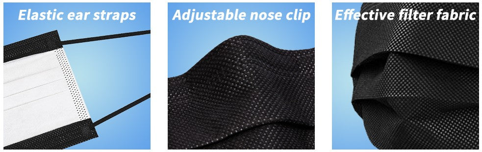 Disposable Face Mask,Non Woven, Single Use-Effective Filtration