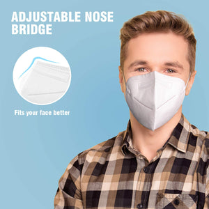NURSAL Disposable Face Masks, Non-Woven 5-Layer (10Packs)