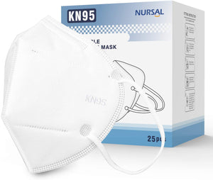 NURSAL Disposable Face Masks, Non-Woven 5-Layer (25Packs)