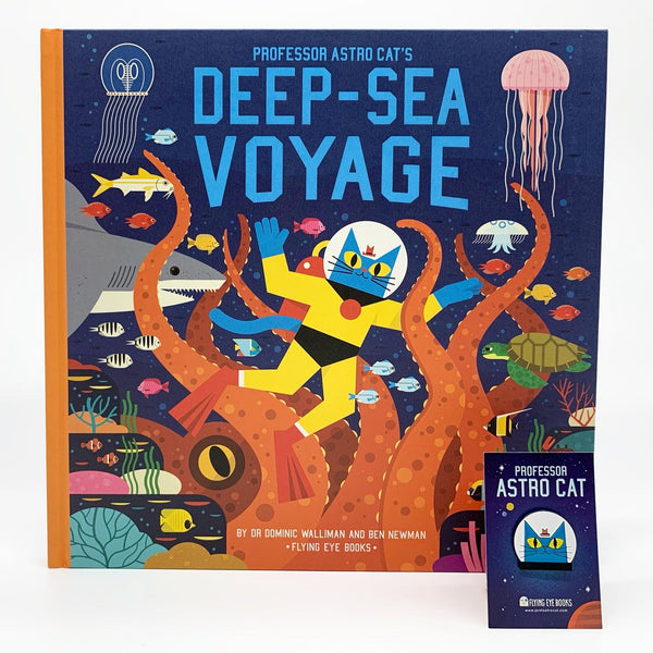 Professor Astro Cat's Deep Sea Voyage SIGNED w/ pin badge