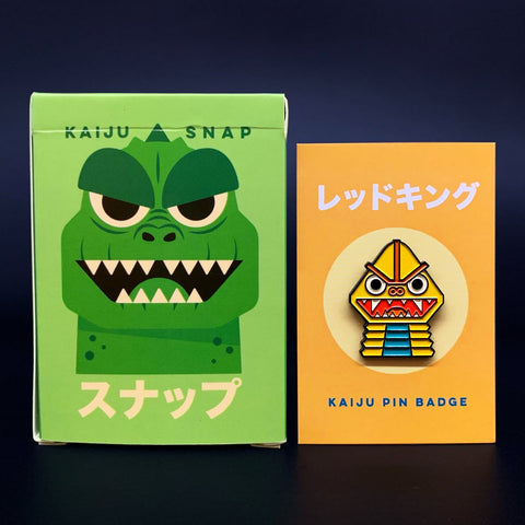 LIMITED OFFER - Kaiju Snap 3 Card Game & Badge Bundle
