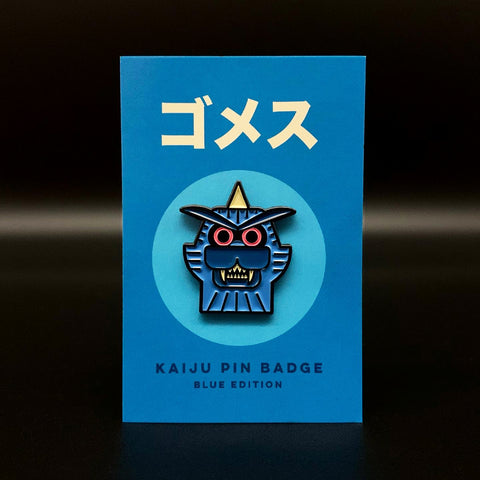 Gomess Kaiju Enamel Pin Badge (Blue Edition)