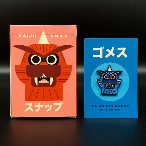 LIMITED OFFER - Kaiju Snap Card Game & Badge Bundle