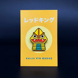 LIMITED OFFER - 'Best of' Kaiju Snap - GOLD Card Game & Red King Badge Bundle