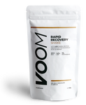 White pouch of VOOM Rapid Recovery with black text and golden brown detailing
