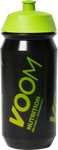 Black biodegradable bottle with green VOOM logo and green sports top, can be used to boost hydration with Voom electrolyte drink
