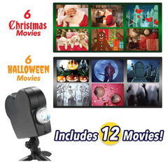 3D Holiday Projector- 12 Movies