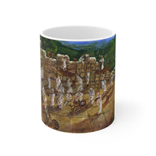 "Load image into Gallery viewer, ""Building Beit Hamikdash Ezra Nechemia"" Mug 11oz"