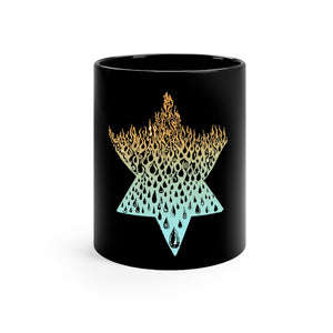 """Fire Water"" Black mug 11oz"