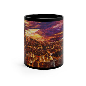 """Sodom and Gomorrah"" Black mug 11oz"