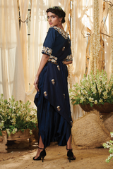 Bush border Dhoti saree with a Belt