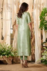 Sage green flower pot suit set