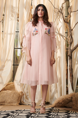 Front Open Trench Dress