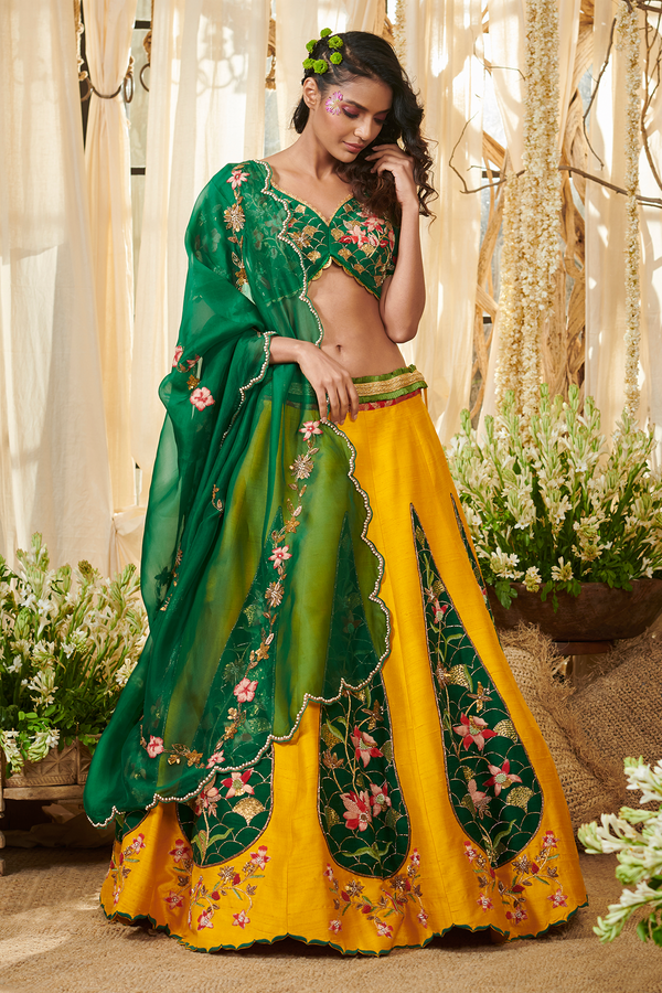 Yellow Cypress Lehenga set