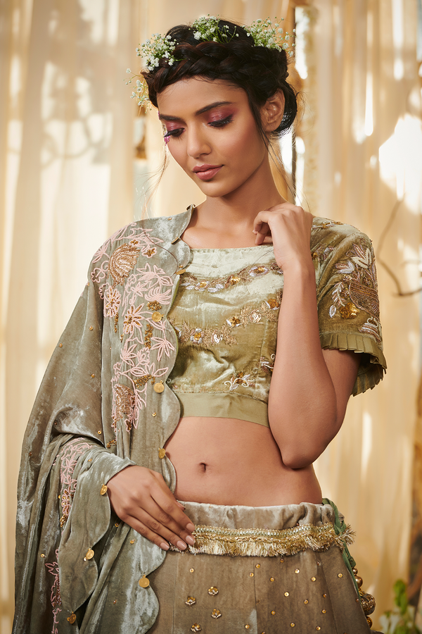 Bullion Rose Lehenga