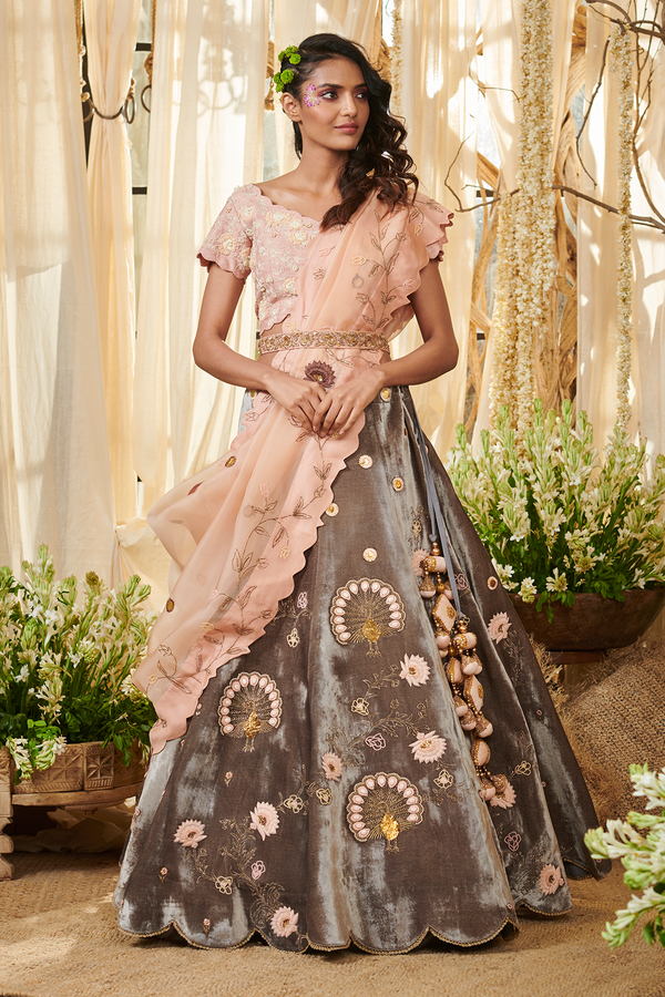 Peacock Spread Lehenga Set