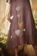 Lilac little hearts Tunic dress
