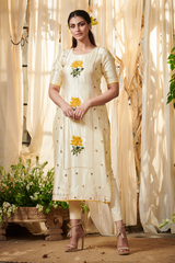 Ivory roses suit set