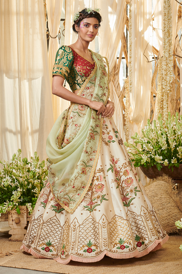 Ivory Bouquet Lehenga set