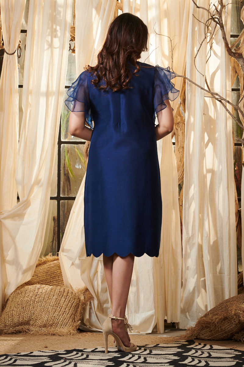 Navy Blue Angels Tunic Dress