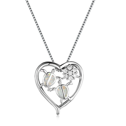 Collier Cou Tortue Affection couleur Opal Blanc