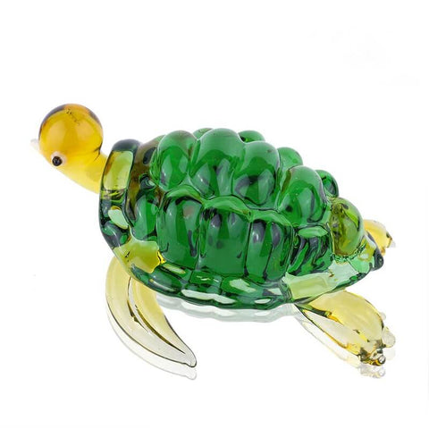 Figurine Verre Tortue Naturel