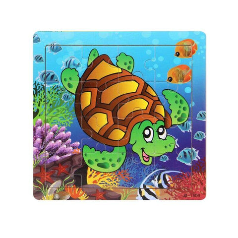 Jouet Enfant Tortue <br> Puzzle Cartoon